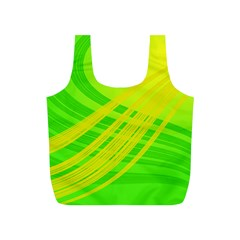 Abstract Green Yellow Background Full Print Recycle Bags (s)