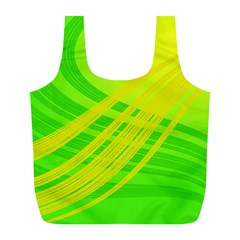 Abstract Green Yellow Background Full Print Recycle Bags (l)