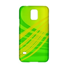 Abstract Green Yellow Background Samsung Galaxy S5 Hardshell Case