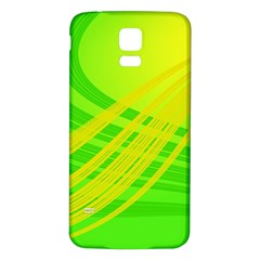 Abstract Green Yellow Background Samsung Galaxy S5 Back Case (white)