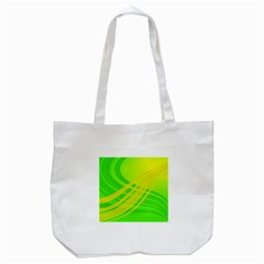 Abstract Green Yellow Background Tote Bag (white)