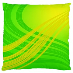 Abstract Green Yellow Background Standard Flano Cushion Case (two Sides)