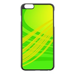 Abstract Green Yellow Background Apple Iphone 6 Plus/6s Plus Black Enamel Case