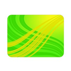 Abstract Green Yellow Background Double Sided Flano Blanket (mini)