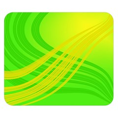 Abstract Green Yellow Background Double Sided Flano Blanket (small)