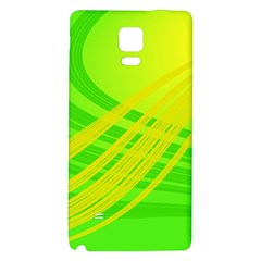 Abstract Green Yellow Background Galaxy Note 4 Back Case