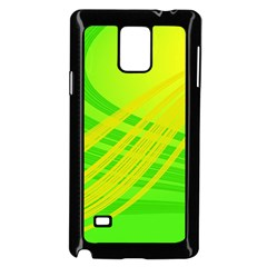 Abstract Green Yellow Background Samsung Galaxy Note 4 Case (black)