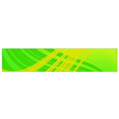 Abstract Green Yellow Background Flano Scarf (small)