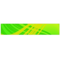 Abstract Green Yellow Background Flano Scarf (large)
