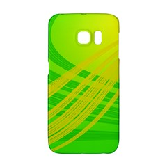 Abstract Green Yellow Background Galaxy S6 Edge