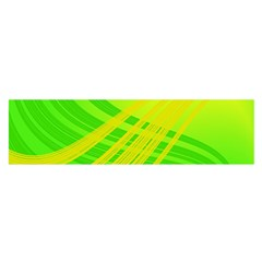 Abstract Green Yellow Background Satin Scarf (oblong)