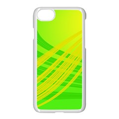 Abstract Green Yellow Background Apple Iphone 7 Seamless Case (white)
