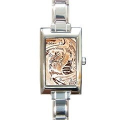 Abstract Newspaper Background Rectangle Italian Charm Watch