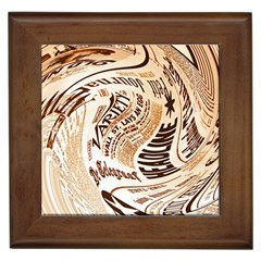 Abstract Newspaper Background Framed Tiles