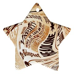 Abstract Newspaper Background Ornament (star)