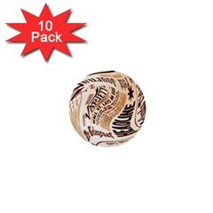 Abstract Newspaper Background 1  Mini Buttons (10 Pack)