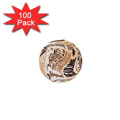Abstract Newspaper Background 1  Mini Buttons (100 pack)