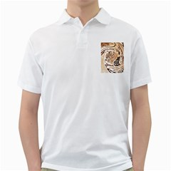 Abstract Newspaper Background Golf Shirts