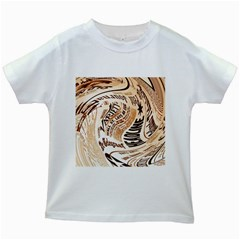 Abstract Newspaper Background Kids White T-Shirts