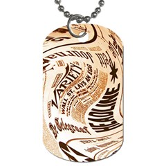 Abstract Newspaper Background Dog Tag (one Side)