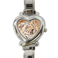 Abstract Newspaper Background Heart Italian Charm Watch
