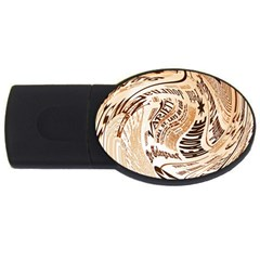 Abstract Newspaper Background Usb Flash Drive Oval (4 Gb)