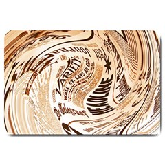 Abstract Newspaper Background Large Doormat