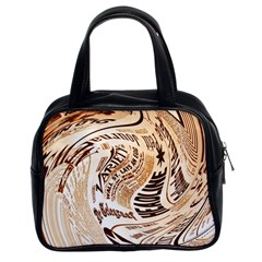 Abstract Newspaper Background Classic Handbags (2 Sides)