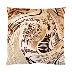 Abstract Newspaper Background Standard Cushion Case (two Sides)