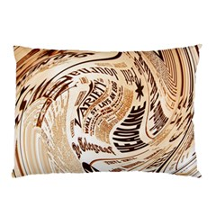 Abstract Newspaper Background Pillow Case