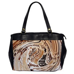 Abstract Newspaper Background Office Handbags