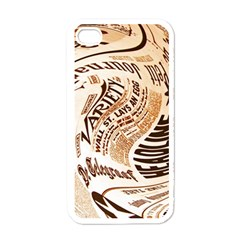 Abstract Newspaper Background Apple Iphone 4 Case (white)