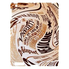 Abstract Newspaper Background Apple Ipad 3/4 Hardshell Case