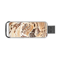 Abstract Newspaper Background Portable Usb Flash (two Sides)