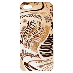 Abstract Newspaper Background Apple Iphone 5 Hardshell Case