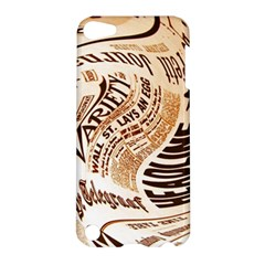 Abstract Newspaper Background Apple Ipod Touch 5 Hardshell Case