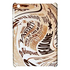 Abstract Newspaper Background Apple Ipad Mini Hardshell Case
