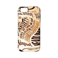 Abstract Newspaper Background Apple Iphone 5 Classic Hardshell Case (pc+silicone)