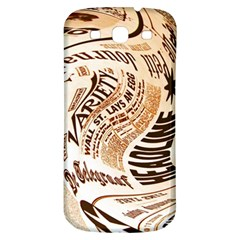 Abstract Newspaper Background Samsung Galaxy S3 S Iii Classic Hardshell Back Case