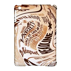 Abstract Newspaper Background Apple Ipad Mini Hardshell Case (compatible With Smart Cover)