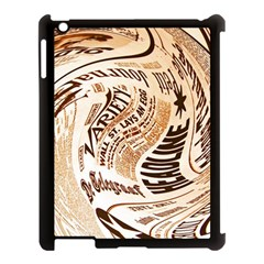 Abstract Newspaper Background Apple Ipad 3/4 Case (black)