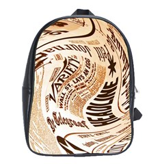 Abstract Newspaper Background School Bags (xl)