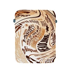 Abstract Newspaper Background Apple Ipad 2/3/4 Protective Soft Cases