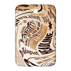 Abstract Newspaper Background Samsung Galaxy Note 8 0 N5100 Hardshell Case