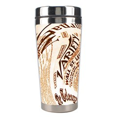 Abstract Newspaper Background Stainless Steel Travel Tumblers