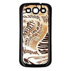 Abstract Newspaper Background Samsung Galaxy S3 Back Case (black)
