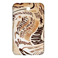 Abstract Newspaper Background Samsung Galaxy Tab 3 (7 ) P3200 Hardshell Case