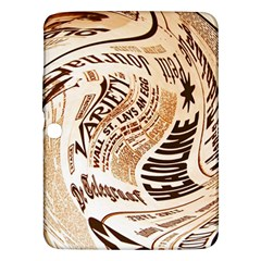 Abstract Newspaper Background Samsung Galaxy Tab 3 (10 1 ) P5200 Hardshell Case