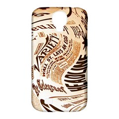 Abstract Newspaper Background Samsung Galaxy S4 Classic Hardshell Case (pc+silicone)
