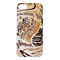 Abstract Newspaper Background Apple Iphone 5s/ Se Hardshell Case